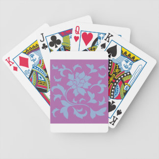 Oriental Flower - Serenity Blue & Radiant Orchid Bicycle Playing Cards