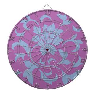 Oriental Flower - Serenity Blue & Radiant Orchid Dartboard