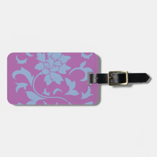 Oriental Flower - Serenity Blue & Radiant Orchid Luggage Tag