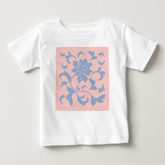 Oriental Flower - Serenity Blue & Rose Quartz Baby T-Shirt