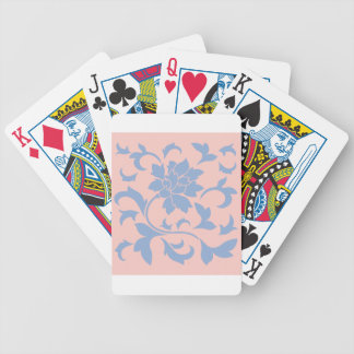 Oriental Flower - Serenity Blue & Rose Quartz Bicycle Playing Cards