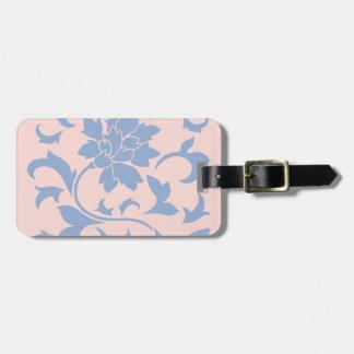 Oriental Flower - Serenity Blue & Rose Quartz Luggage Tag