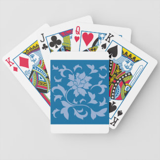 Oriental Flower - Serenity Blue & Snorkel Blue Bicycle Playing Cards