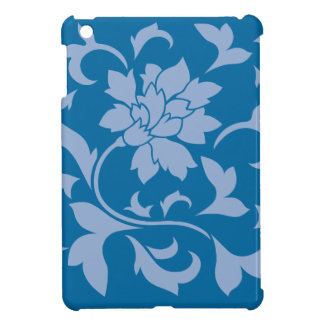 Oriental Flower - Serenity Blue & Snorkel Blue iPad Mini Case