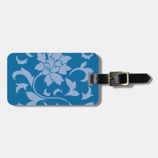 Oriental Flower - Serenity Blue & Snorkel Blue Luggage Tag