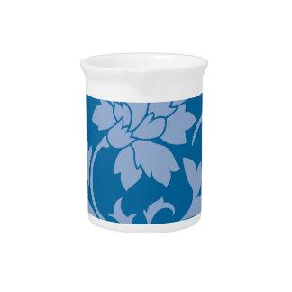 Oriental Flower - Serenity Blue & Snorkel Blue Pitcher