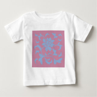 Oriental Flower - Serenity Blue & Strawberry Baby T-Shirt