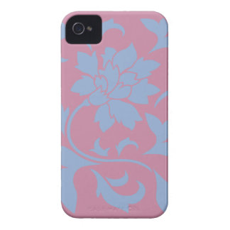 Oriental Flower - Serenity Blue & Strawberry iPhone 4 Cover