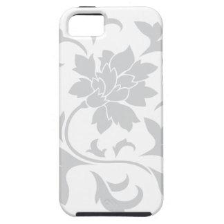 Oriental Flower - Silver Circular Pattern iPhone 5 Case