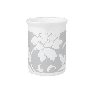 Oriental Flower - Silver Circular Pattern Pitcher