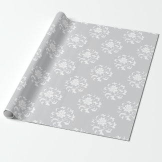 Oriental Flower - Silver Circular Pattern Wrapping Paper
