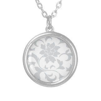 Oriental Flower - Silver Silver Plated Necklace