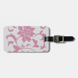 Oriental Flower - Silver Strawberry Luggage Tag