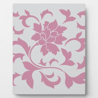 Oriental Flower - Silver Strawberry Plaque