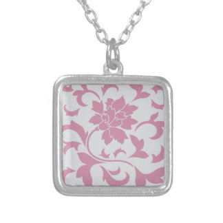 Oriental Flower - Silver Strawberry Silver Plated Necklace