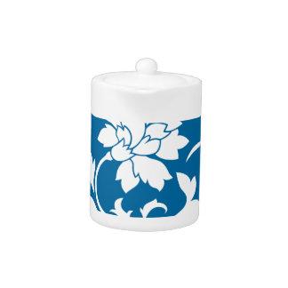 Oriental Flower - Snorkel Blue Circular Pattern