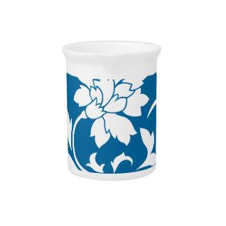 Oriental Flower - Snorkel Blue Circular Pattern Pitcher