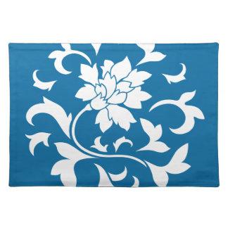 Oriental Flower - Snorkel Blue Circular Pattern Placemat
