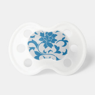Oriental Flower - Snorkel Blue & Silver Dummy