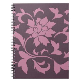 Oriental Flower - Strawberry Cherry Chocolate Notebook