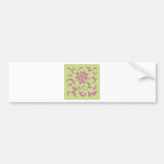 Oriental Flower - Strawberry & Daiquiri Green Lime Bumper Sticker