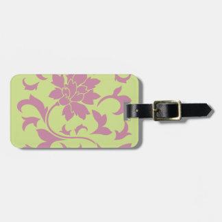 Oriental Flower - Strawberry & Daiquiri Green Lime Luggage Tag