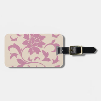Oriental Flower - Strawberry Latte Luggage Tag