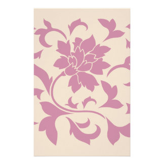 Oriental Flower - Strawberry Latte Stationery