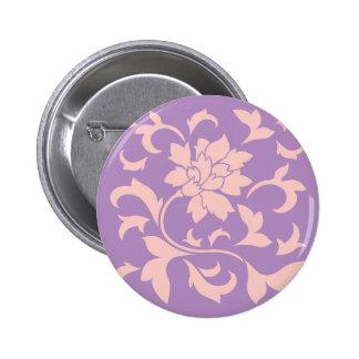 Oriental Flower - Strawberry Lilac 6 Cm Round Badge