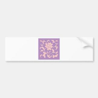 Oriental Flower - Strawberry Lilac Bumper Sticker