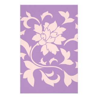 Oriental Flower - Strawberry Lilac Customised Stationery