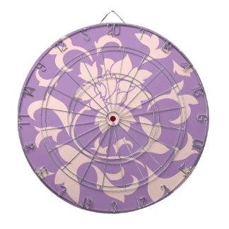 Oriental Flower - Strawberry Lilac Dartboard With Darts