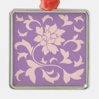Oriental Flower - Strawberry Lilac Metal Ornament
