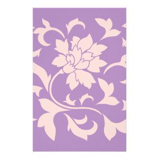 Oriental Flower - Strawberry Lilac Stationery