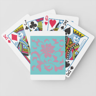 Oriental Flower - Strawberry & Pure Turquoise Bicycle Playing Cards