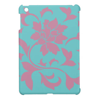 Oriental Flower - Strawberry & Pure Turquoise Cover For The iPad Mini