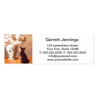 Oriental flowers and butterflies pack of skinny business cards