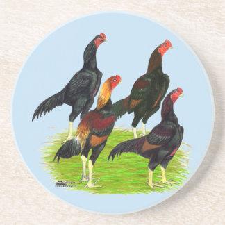 Oriental Game Fowl Quartet Coaster