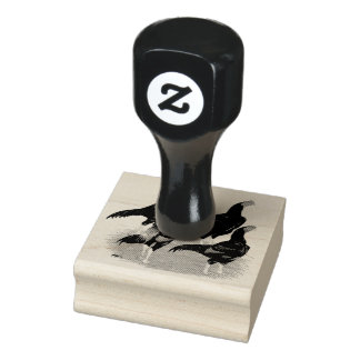 Oriental Game Fowl Quartet Rubber Stamp