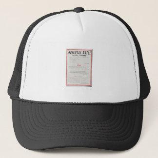 Oriental Hotel Rules Trucker Hat