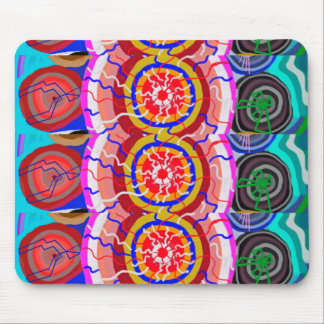 ORIENTAL Indian Temple Art: SUN CHAKRA Energy Mouse Pad