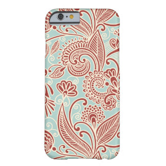 Oriental Iranian Paisley, Swirls - Red Blue Barely There iPhone 6 Case