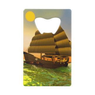 Oriental junk by sunset - 3D render