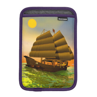 Oriental junk by sunset - 3D render iPad Mini Sleeve
