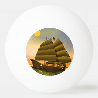 Oriental junk by sunset - 3D render Ping Pong Ball