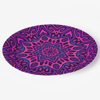 Oriental Kaleido 5B Paper Plate