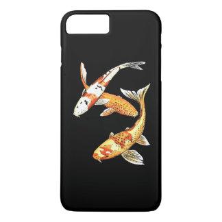 Oriental Koi Goldfish on Dramatic Black iPhone 7 Plus Case