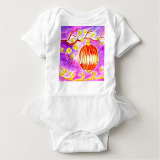 Oriental Lantern Art Baby Bodysuit