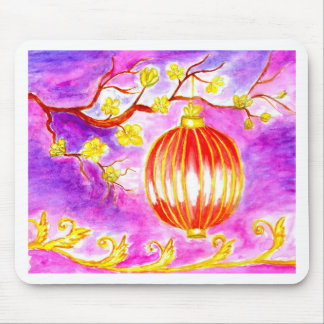 Oriental Lantern Art Mouse Pad