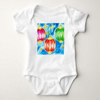 Oriental Lanterns Art Baby Bodysuit